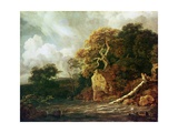 Landscape with a River Giclee Print by Jacob Isaaksz. Or Isaacksz. Van Ruisdael
