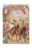 Confederate Uniforms During the American Civil War (1861-65) Giclee Print by J. Steeple Davis