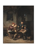 Three Peasants at an Inn, 1647 Giclee Print by Adriaen Jansz. Van Ostade