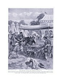 John Refuses to Help the Citizens of Rouen Ad1204, 1920's Giclee Print by Henry A. Payne
