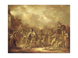 """An Allegory of Wealth and Poverty: """"Every Profit Helps"""", 1655 Giclee Print by Adriaen Pietersz. Van De Venne"""