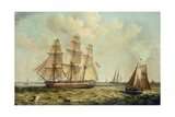 The Three-Masted Barque 'Halcyon' of Hull, 1832 Giclee Print by Thomas A. Binks