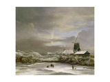 Winter Landscape Giclee Print by Jacob Isaaksz. Or Isaacksz. Van Ruisdael