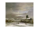 Winter Landscape Giclee Print by Jacob Isaaksz. Or Isaacksz. Van Ruisdael