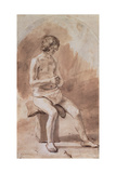 Study of a Nude Youth Giclee Print by Rembrandt Harmensz. van Rijn