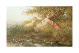 The Lotus Eaters, 1893 Giclee Print by Charles J. Staniland