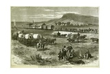 Railroad Building on the Great Plains, from 'Harper's Weekly', 17th July 1875 Giclee Print by Alfred R. Waud