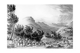 Serra De Estrella or De Neve, the March of Baggage Following the Army, May 16th 1811, Engraved by… Giclee Print by Thomas Staunton St. Clair