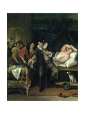 The Doctor's Visit, C.1665-70 Giclee Print by Jan Havicksz. Steen