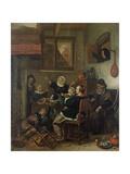 Interior Scene, C.1660-70 Giclee Print by Jan Havicksz. Steen