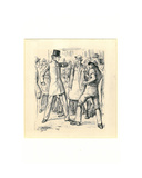 Quarrel in the Street Giclee Print by George L. Du Maurier