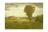 Sunlit Pasture Giclee Print by George Snr. Inness
