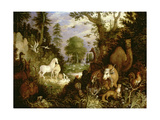 The Garden of Eden Giclee Print by Roelandt Jacobsz. Savery