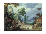Landscape with Birds, 1628 Giclee Print by Roelandt Jacobsz. Savery