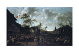 Peasants Feasting in a Village, 1661 Giclee Print by Joost Cornelisz. Droochsloot