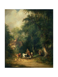 Milking Time Giclee Print by William Snr. Shayer
