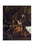 Merry Company, C.1667-69 Giclee Print by Jan Havicksz. Steen