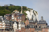 Town View with Cliffs, Le Treport, Normandy, France Photographic Print by Walter Bibikow