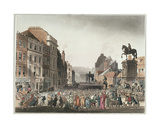 Pillory at Charing Cross from Ackermann's 'Microcosm of London' Giclee Print by T. & Pugin Rowlandson