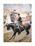 Federal Uniforms of the 1863: Cavalry Sergeant and Ordnance Officer Giclee Print by H.c. Mcbarron