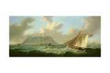 Shipping Off Cape Town, 1806 Giclee Print by J. Francis Sartorius