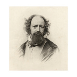 Portrait of Alfred, Lord Tennyson (1809-92) Giclee Print by C. Laurie