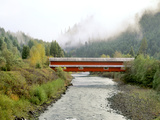 Office Covered Bridge over the Willamette River, Westfir, Oregon, USA Photographic Print by  Jaynes Gallery