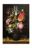 Flower-Piece with a Roemer, C.1615 Giclee Print by Roelandt Jacobsz. Savery