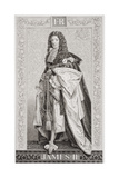 James II (1633-1701) from 'Illustrations of English and Scottish History' Volume I Giclee Print by J.l. Williams