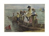 Little Anglers Giclee Print by Alexander M. Rossi