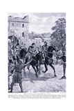 Piers Gaveston Leaves Dedington on a Mule Ad1312, 1920's Giclee Print by Henry A. Payne