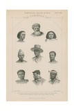 Nine Faces of Ethiopian People Giclee Print by J.l. Williams
