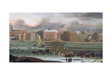 A Frost Fair on the Thames at Temple Stairs, C.1684 Giclee Print by Abraham Danielsz. Hondius