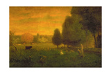 Sundown Brilliance Giclee Print by George Snr. Inness