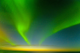 Northern Lights over the Sea, Beaufort Sea, ANWR, Alaska, USA Photographic Print by Steve Kazlowski