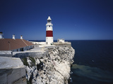 Lighthouse, Europa Point, Gibraltar, Spain Photographic Print by Walter Bibikow