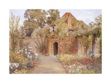 A Walled Garden with Old Garden House Giclee Print by Thomas H. Hunn