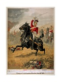 The Charge of the 1st Life Guards at Waterloo, Published C.1890 Giclee Print by Henry A. Payne