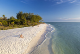 White Sand Beach at Sunset on Sanibel Island, Florida, USA Stampa fotografica di Chuck Haney