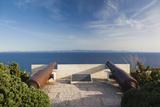 Citadel Cannons, Esplanade St-Francois, Bonifacio, Corsica, France Photographic Print by Walter Bibikow