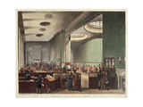 Royal Exchange, Lloyds Subscription Room, from Ackermann's 'Microcosm of London', 1809 Giclee Print by T. & Pugin Rowlandson