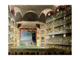 Drury Lane Theatre, from Microcosm of London, by R Ackermann, 1808 Giclee Print by T. & Pugin Rowlandson