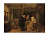 A Doctor Visiting a Sick Woman Giclée-Druck von Quiringh Gerritsz. van Brekelenkam
