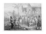 Un Marche D'Esclaves a Surinam, Engraved by Madou, 1839 Giclee Print by Pierre J. Benoit