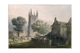 Croydon Parish Church, 1813 Giclee Print by J. P. Neale