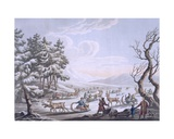 Tungus Natives Leaving Winter Camp, 1812-13 Giclee Print by E. Karnejeff