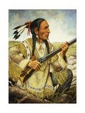 (Na-Pay-Shure) Red Hand, 1862 Giclee Print by Henry H. Cross
