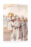 The Priests Bearing the Ark Outside the Walls of Jericho Giclee Print by Arthur A. Dixon