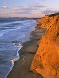 Cliffs at Pescadero State Beach, California, USA Photographic Print by Charles Gurche