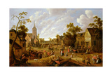 A Crowded Market Place with Revellers before a Tavern Giclee Print by Joost Cornelisz. Droochsloot